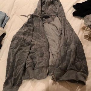 Velvet gray sweatshirt